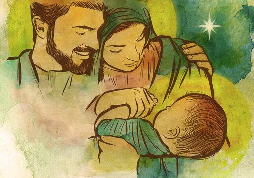 Merry Christmas! Jesus, Mary and Joseph