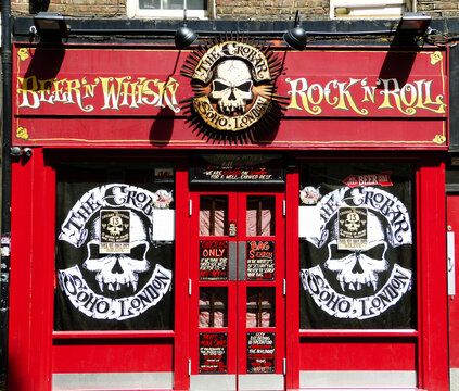 London / England UK - Giugno 28, 2014: The crobar soho london is a pub famous for live rock music