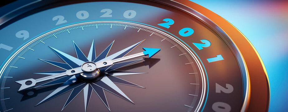 Dunkler Kompass mit Lichtspiel - 2021