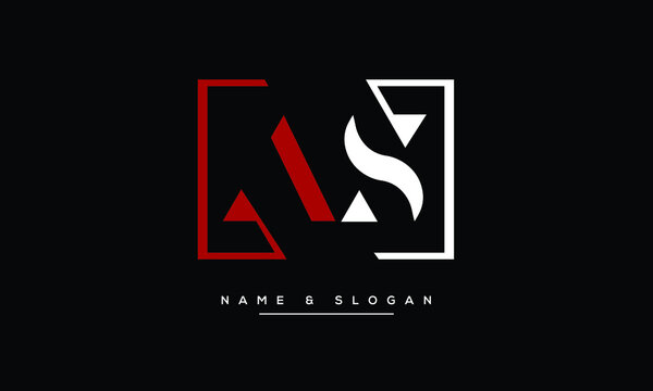 AS ,SA,A ,S  Abstract Letters Logo Monogram