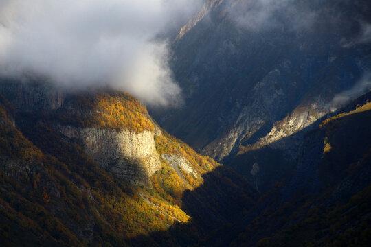 Landscape in the Greater Caucasus, Georgia