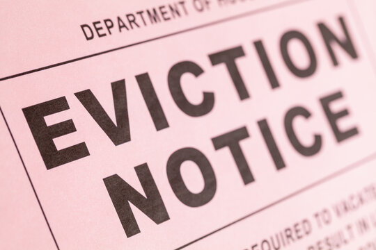 Eviction Notice Close Up