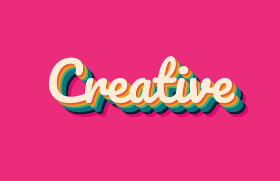 creative text effects vector