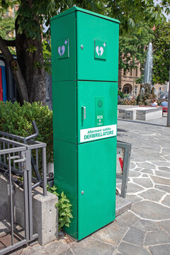 Aed Machine Box in Lugano Switzerland