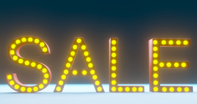 3D rendering with Sale for promotion price.Background banner