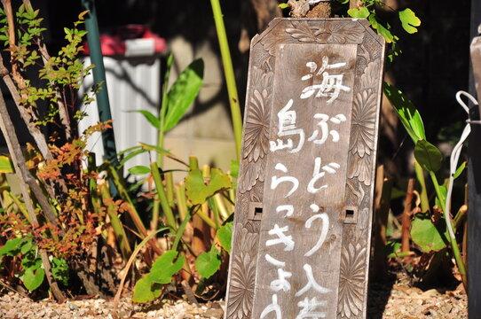 沖縄料理の漢字の看板