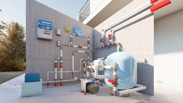 SALT WATER POOL FILTRATION SYSTEM