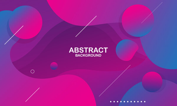 Colorful geometric background. Liquid color background design. Fluid shapes composition. Eps10 vector
