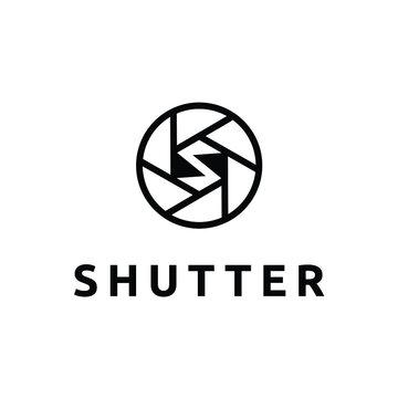 shutter letter s logo design