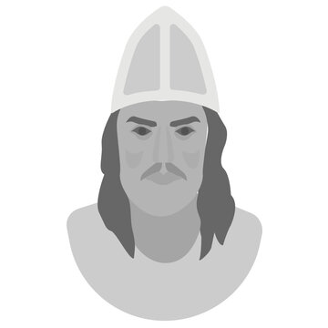 An icon with dummy face of leif erikson is holding the idea of leif erikson day celebration, celebrated in us as official day