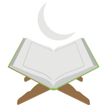 Muslims holy book al quran along with new moon is destining the meaning and icon of laila tul qadr