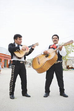 Young Mariachi players with instruments