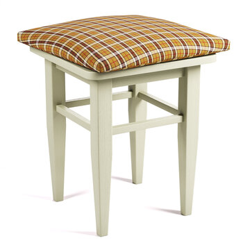 Wooden stool with soft pillow