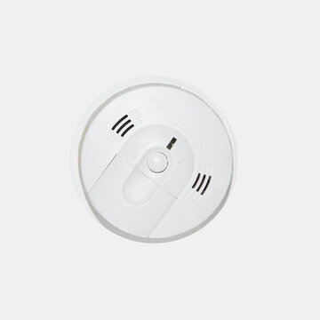 Smoke and carbon monoxide alarm isolated on a white background