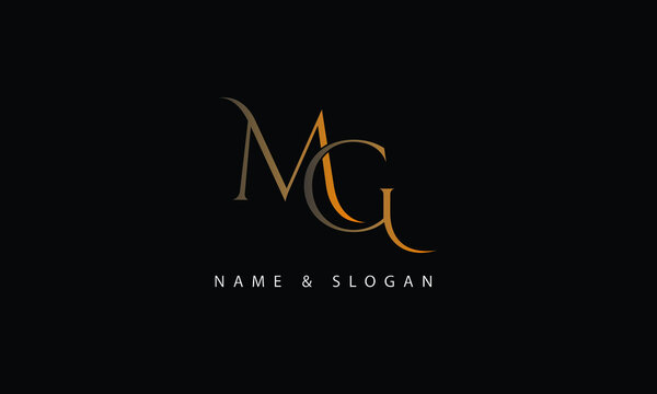 MG, GM, M, G abstract letters logo monogram