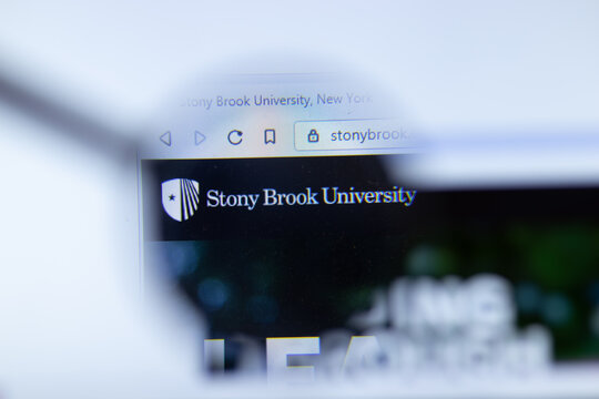 Moscow, Russia - 1 June 2020: Stony Brook University, State University of New York website with logo, Illustrative Editorial
