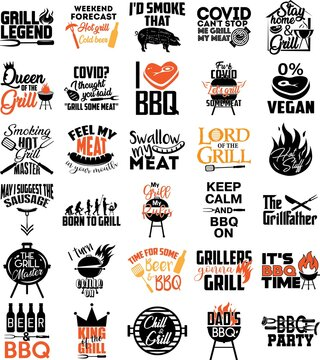 Collection of Grill phrases, slogans or quotes