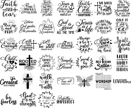 Collection of Christian phrases, slogans or quotes