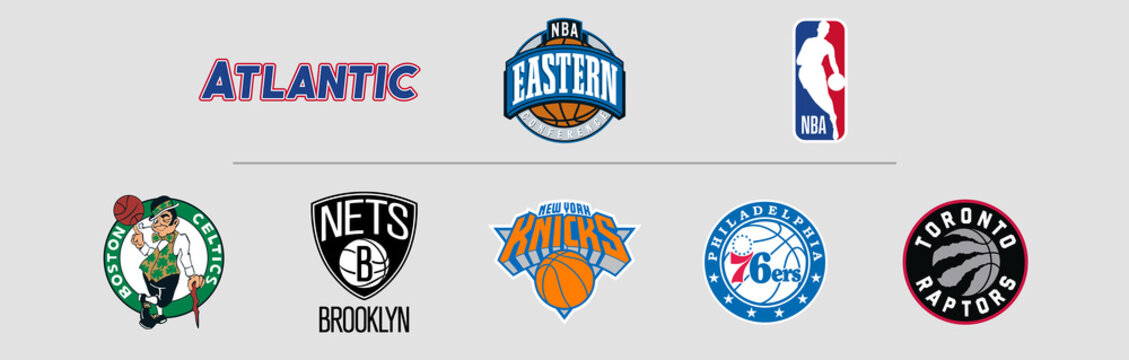 NBA Eastern Conference Atlantic logos, scaleable vector file, transparent.