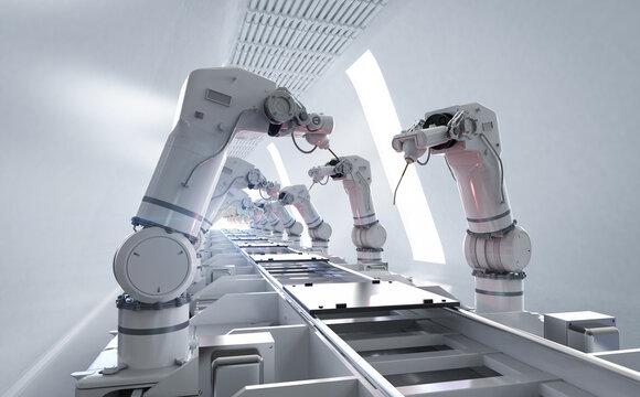 Robot assemble line