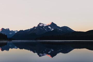 Mesmerizing mountain landscape reflected on a lake