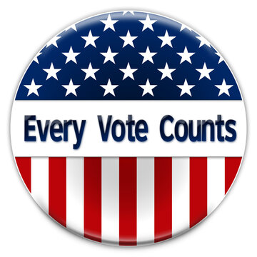 Election Badge - Every Vote Counts