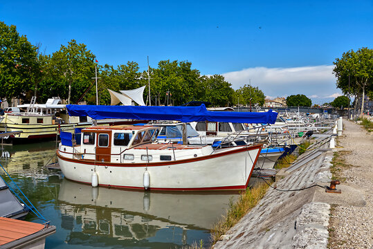 Port of Beaucaire, a commune in the Gard department in the Occitanie region of southern France