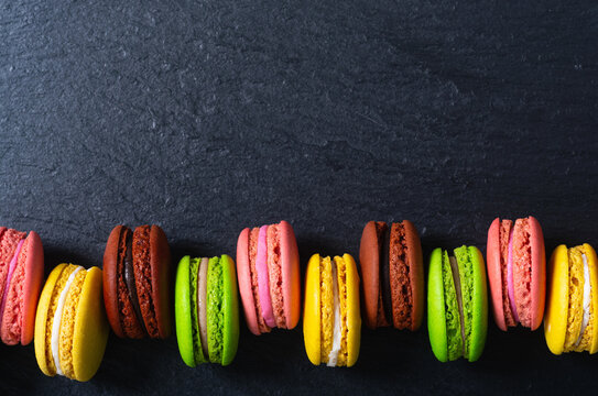 French dessert sweet macaroon