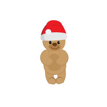Teddy Bear in Santa Claus hat