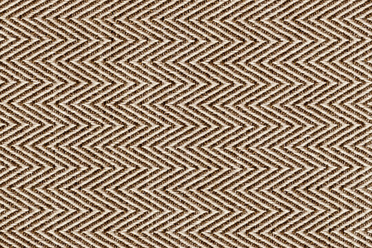 Gold,beige with brown colors fabric sample Herringbone,zigzag pattern texture backdrop.Fabric strip line,Herringbone pattern design,upholstery for decoration interior design background..