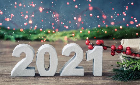2021 christmas background happy new year 2021 bokeh