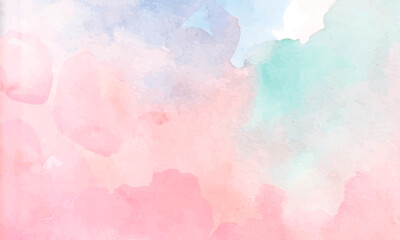 Fototapeta Colorful watercolor design background texture obraz