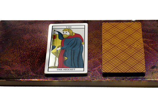 Tarot card - the Hermit, symbolizing introspection and self-reflection