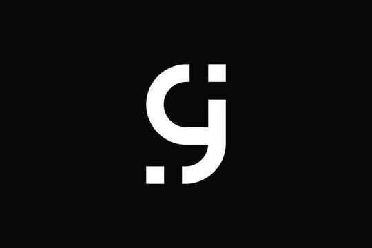 GJ logo letter design on luxury background. JG logo monogram initials letter concept. GJ icon logo design. JG elegant and Professional letter icon design on black background. J G GJ JG