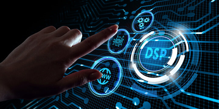 DSP - Demand Side Platform. Business, Technology, Internet and network concept.
