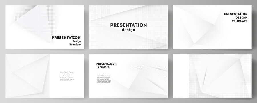 Vector layout of the presentation slides design business templates, multipurpose template for presentation brochure, brochure cover. Halftone effect decoration with dots. Dotted pop art pattern.
