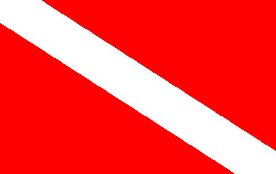 Scuba divers flag