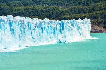 Beautiful blue Perito Moreno Glacier in Argentina