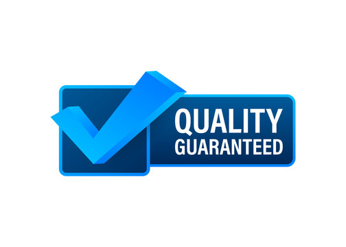Quality guaranteed. Check mark. Premium quality symbol. Vector stock illustration.