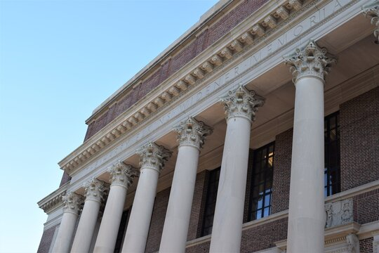 Harvard College Library Front View
