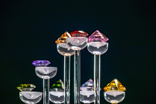 beautiful diamonds are show on the diamond showcase.