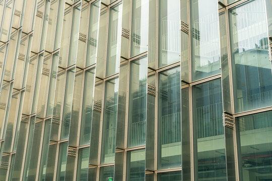 Modern glass windows building
