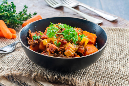Mince beef and sweet potato stew