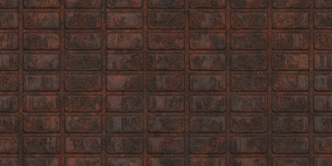 Seamless Rust Corrugated Metal Textures. Seamless Transition.
