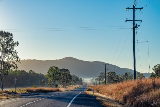 A view of the highway in Mount Morgan
