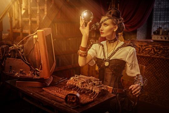 laboratory of steampunk