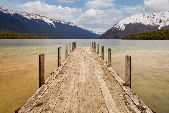 Jetty, Lake Rotoiti, New Zealand