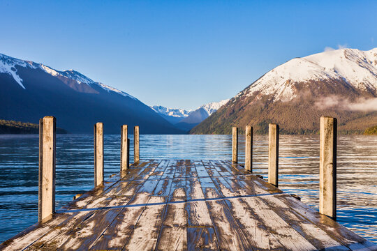 Jetty Lake Rotoiti New Zealand