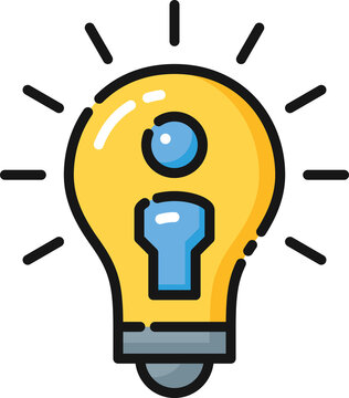 Idea Inspiration Filled Outline Icon