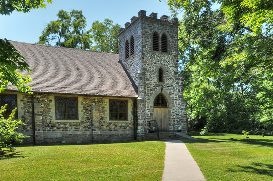 St Georges Anglican church Gores Landing Ontario